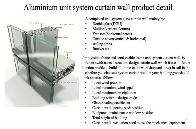 construction glass curtain wall popular curtain AMGS company