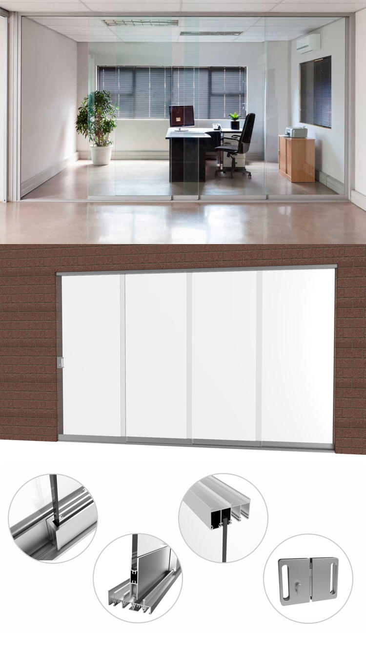 Wholesale double frameless door AMGS Brand