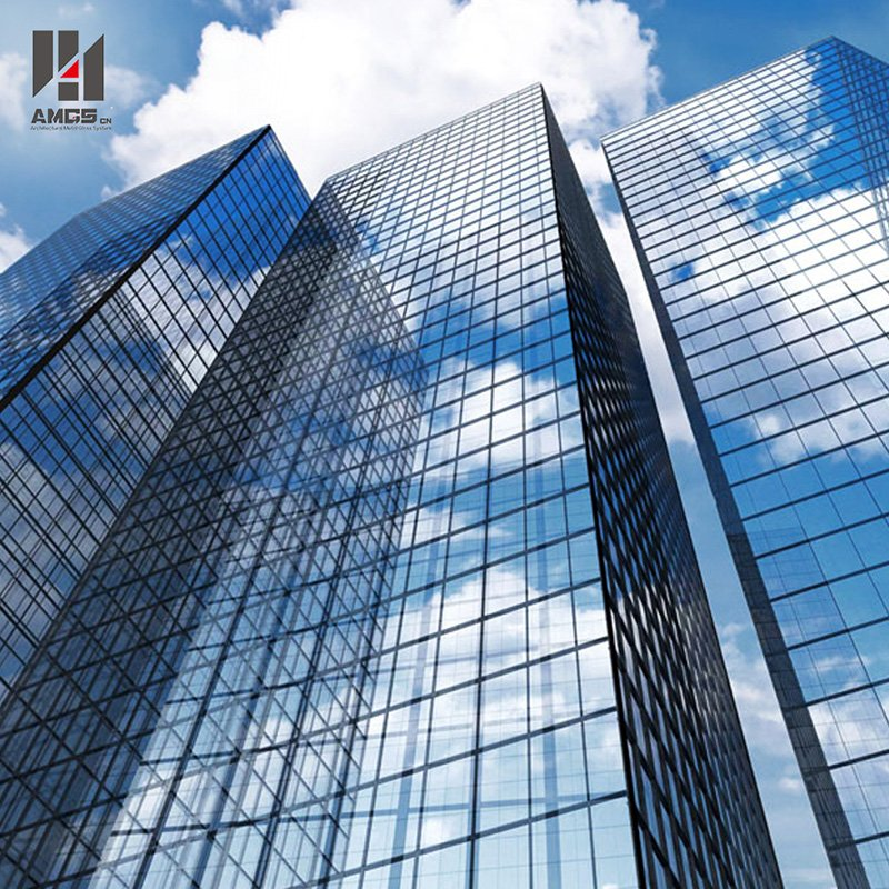 AMGS Tempered Frameless Glass Curtain Wall for Construction Frameless Glass Curtain Wall image18