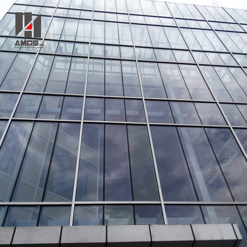 AMGS Aluminium Unit System Frame Glass Curtain Wall Frame Glass Curtain Wall image16