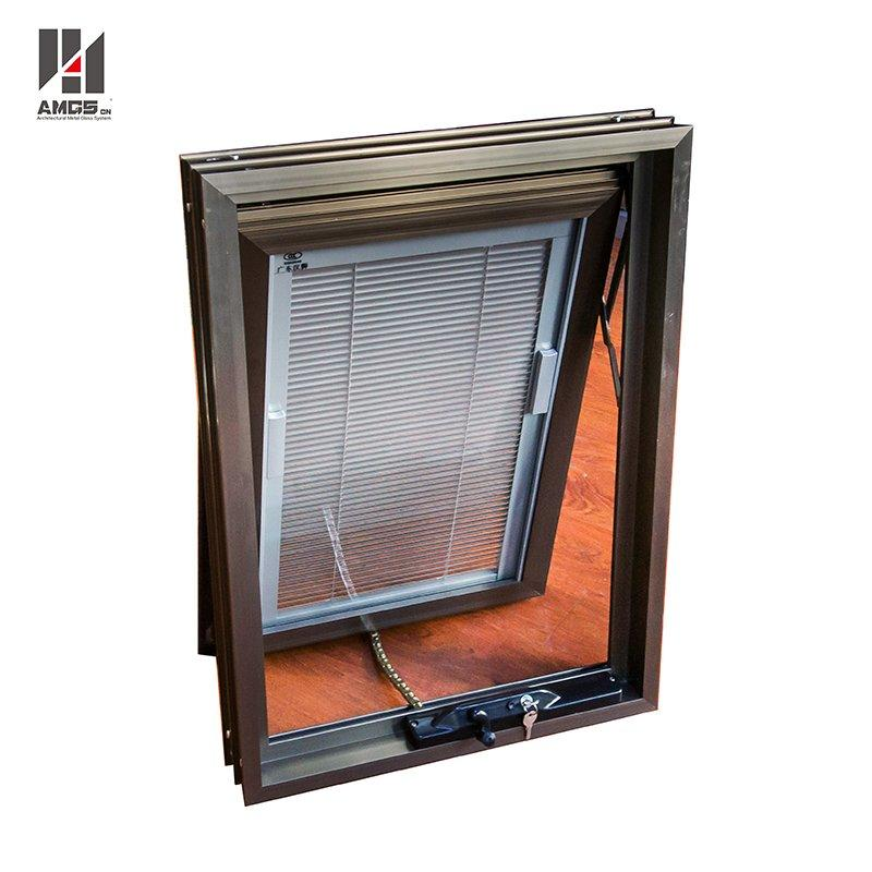 Commercial Aluminium Glazing Blinds Awning With Hand-Cranked Window