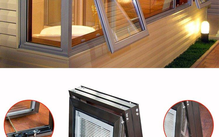 screen handcranked protection AMGS Brand aluminium window suppliers factory