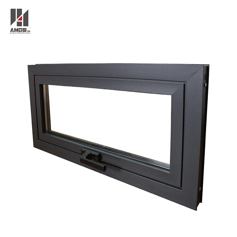 China Supplier Latest Awning Window Designs Aluminum Top Hung Window