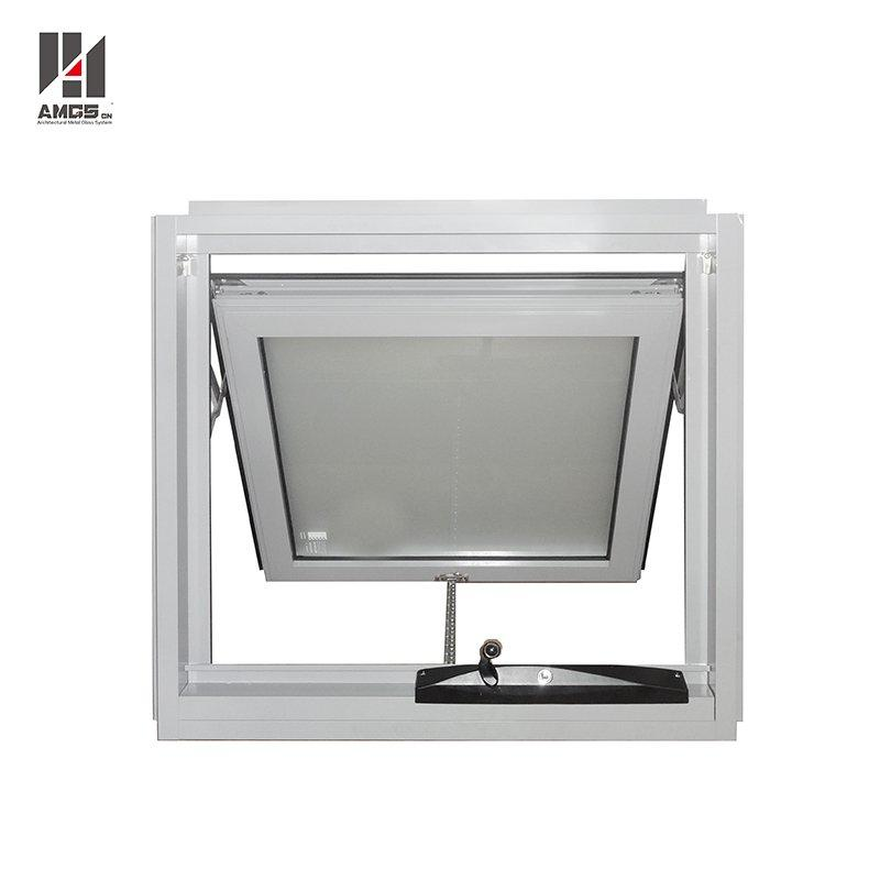 Tempered Glass Sound Proof Hand Crank Aluminium Awning Windows