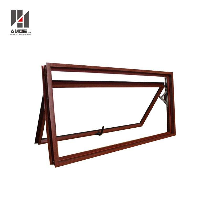 Modern Design Rain Protection Aluminum Glass Top Hung Awning Windows