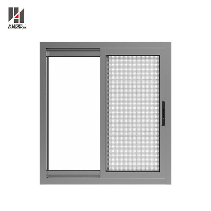 100F Aluminum Sliding Window With Sash Window