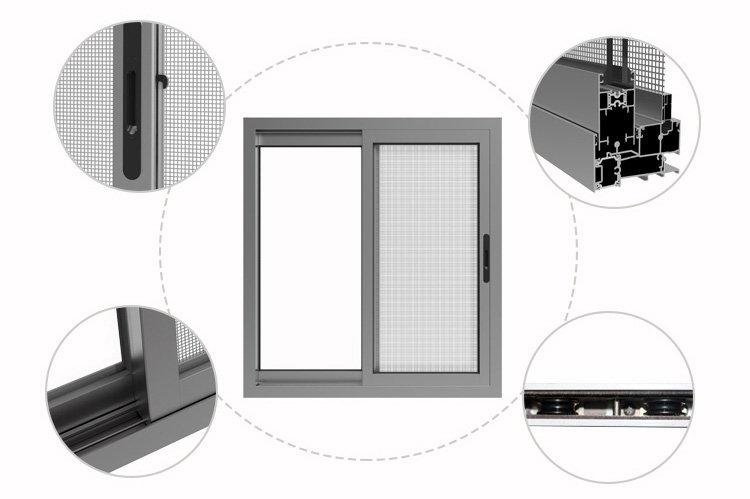 window alloy OEM aluminium sliding windows AMGS