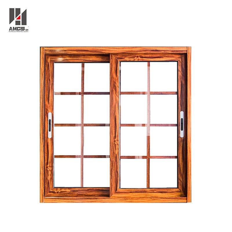 Modern French Style Aluminium Alloy Sliding Window Grill Design