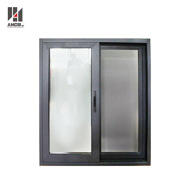 AMGS Powder Coated Dark Gray Aluminium Profile Sliding Windows Price Aluminum Sliding Windows image18
