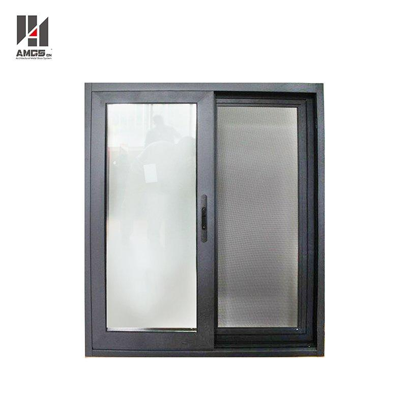 Powder Coated Dark Gray Aluminium Profile Sliding Windows Price