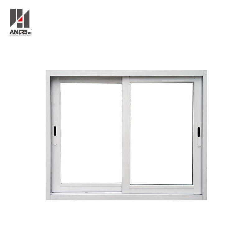 White Waterproof Aluminium Sliding Window With Mosquito Net
