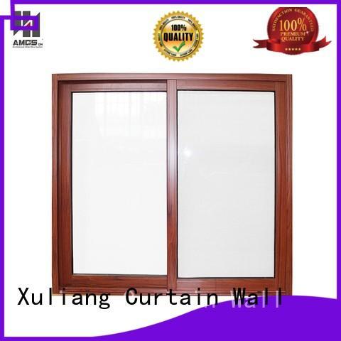 aluminum sliding windows commercial wood grain AMGS Brand company