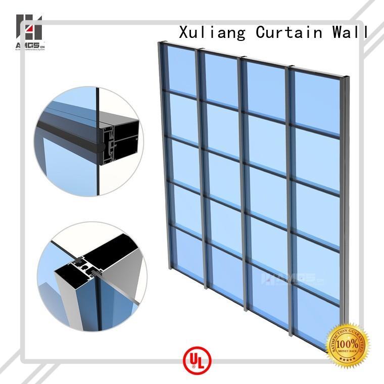 construction aluminum glazed curtain wall wall AMGS