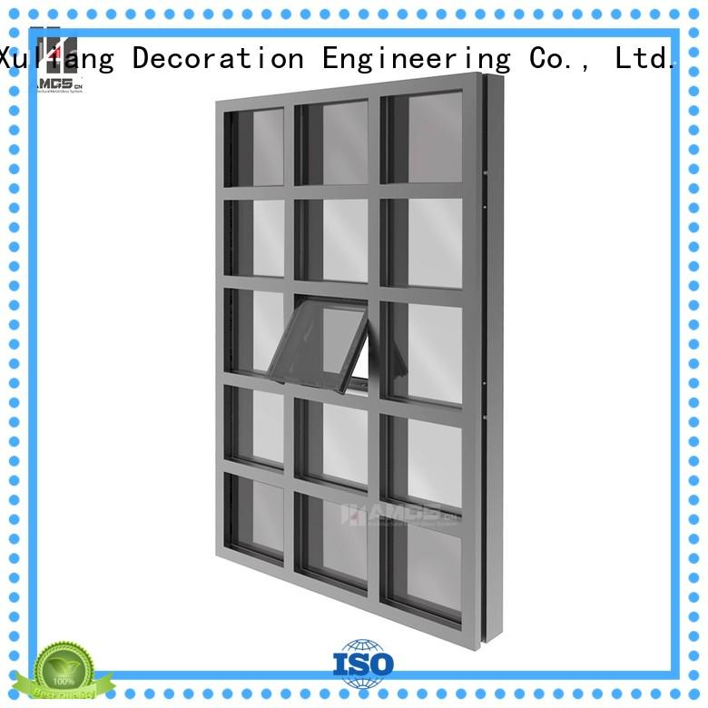 Wholesale system glazed glazed curtain wall AMGS Brand