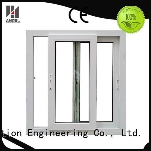white pvc doors window tempered AMGS Brand company