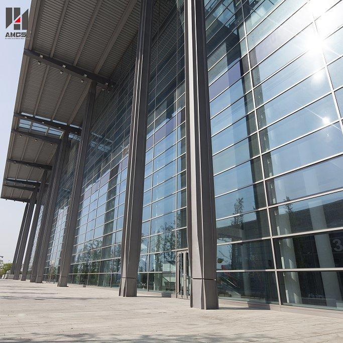 Reflection Glass Aluminum Curtain Wall For Exterior Facade Building