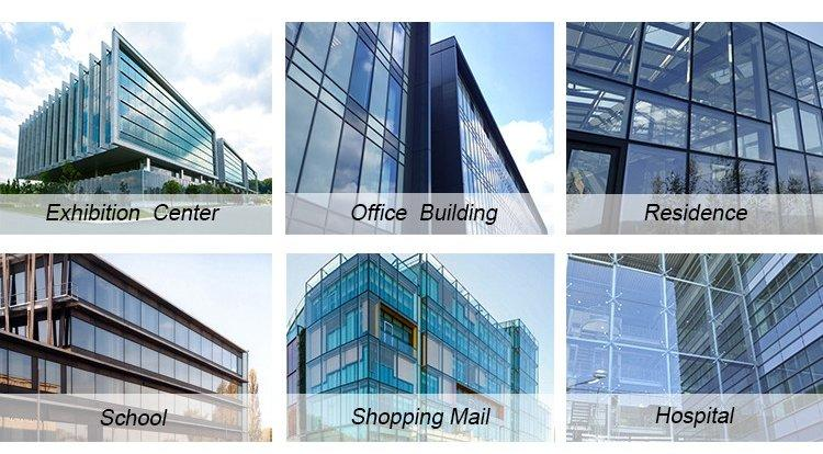system exterior reflection glazed curtain wall AMGS