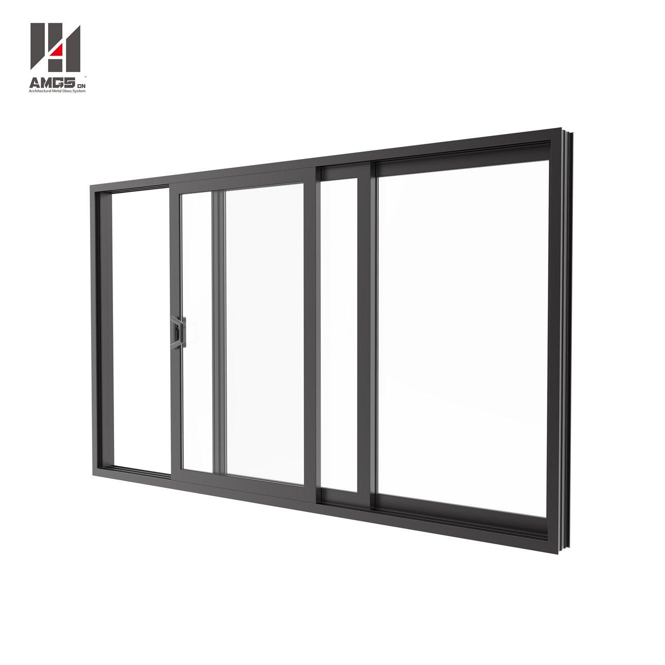 AMGS Aluminium Profile Sliding Glass Doors For Double Glass Aluminum Sliding Doors image14