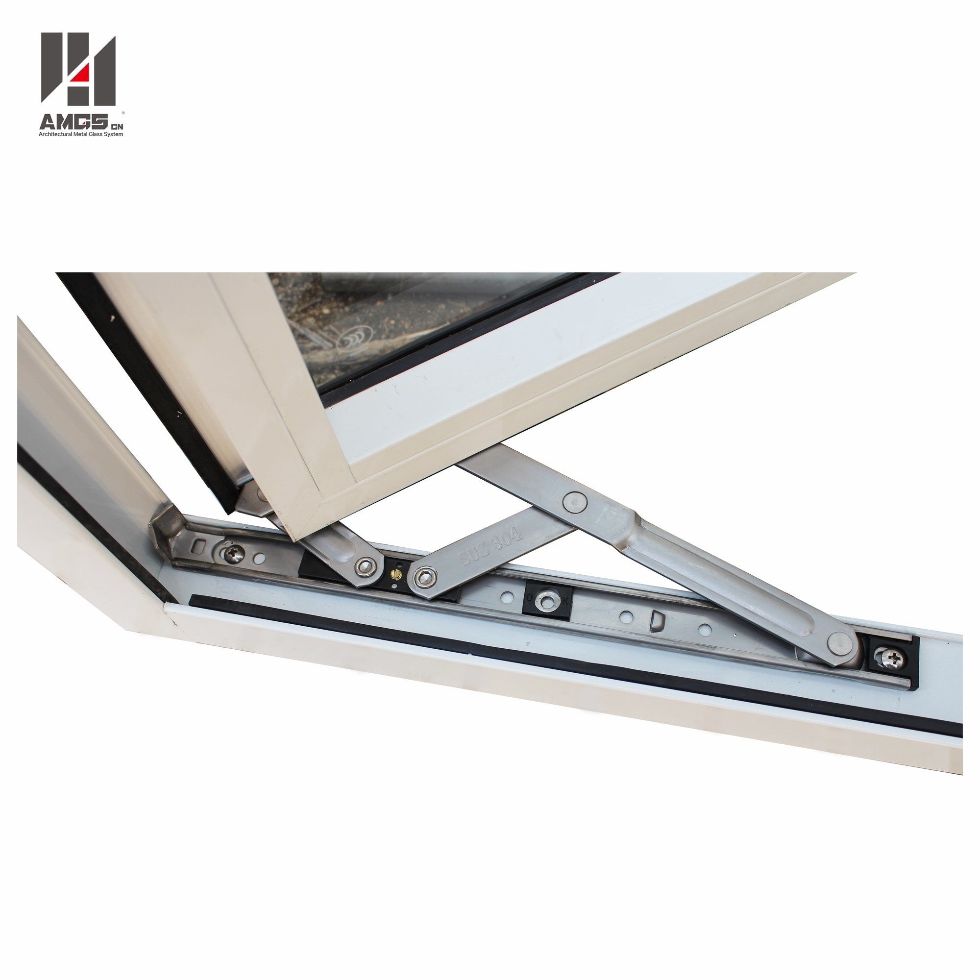 AMGS Outward-Opening Aluminium Profile Casement Windows For Residential Or Commercial Aluminum Casement Windows image14