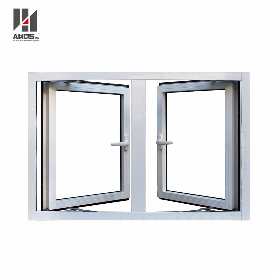 Outward-Opening Aluminium Profile Casement Windows For Residential Or Commercial