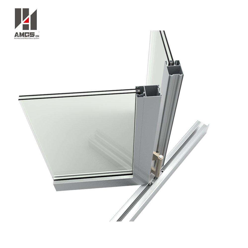 Aluminum Bifold Windows With Double Tempered Glass