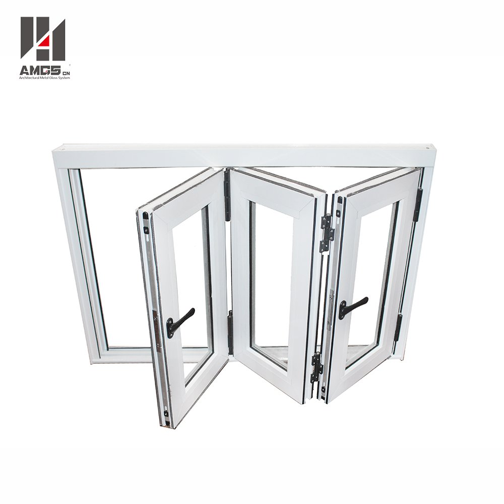 AMGS Aluminum Bifold Windows With Double Tempered Glass Aluminum Bifold Windows image13