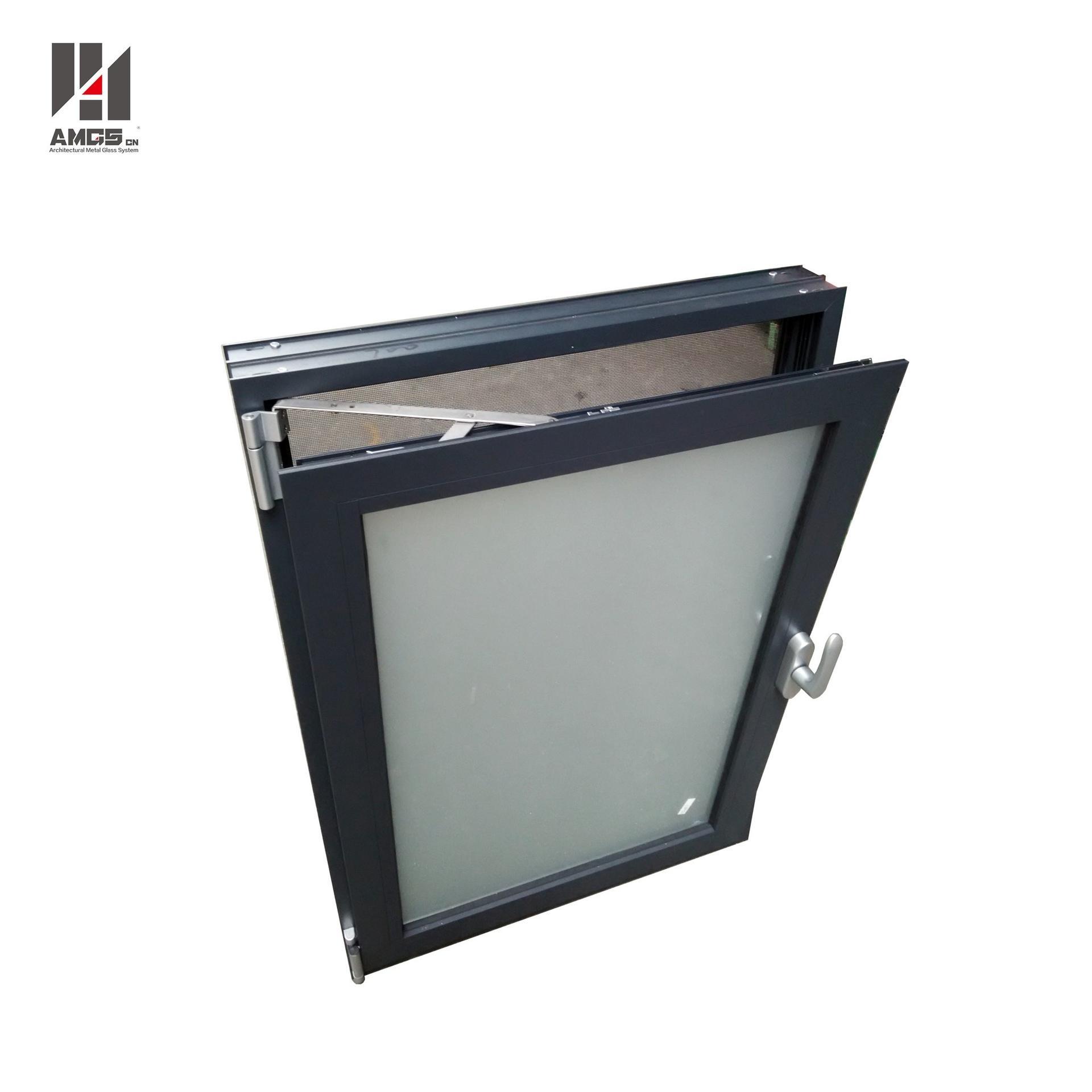 Aluminum Tilt-Turn Window With Double Glazing Glass