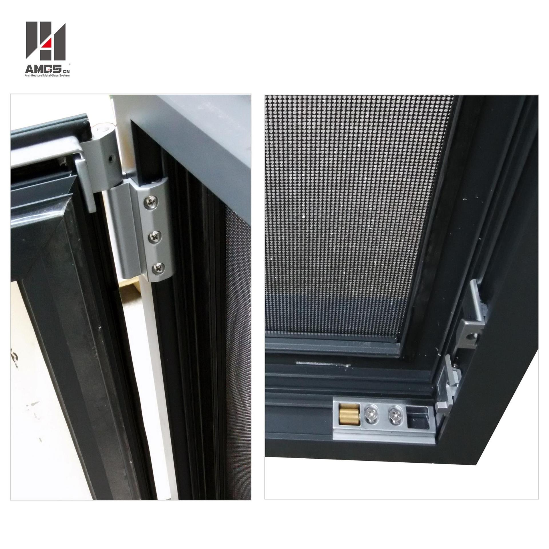 Aluminum Tilt-Turn Window With Double Glazing Glass