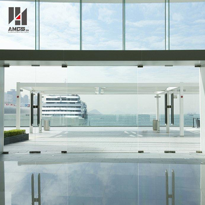 Frameless Tempered Glass Doors For Commercial Interior Office
