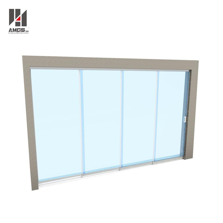 All-Glass Multitrack Frameless Glass Sliding Doors