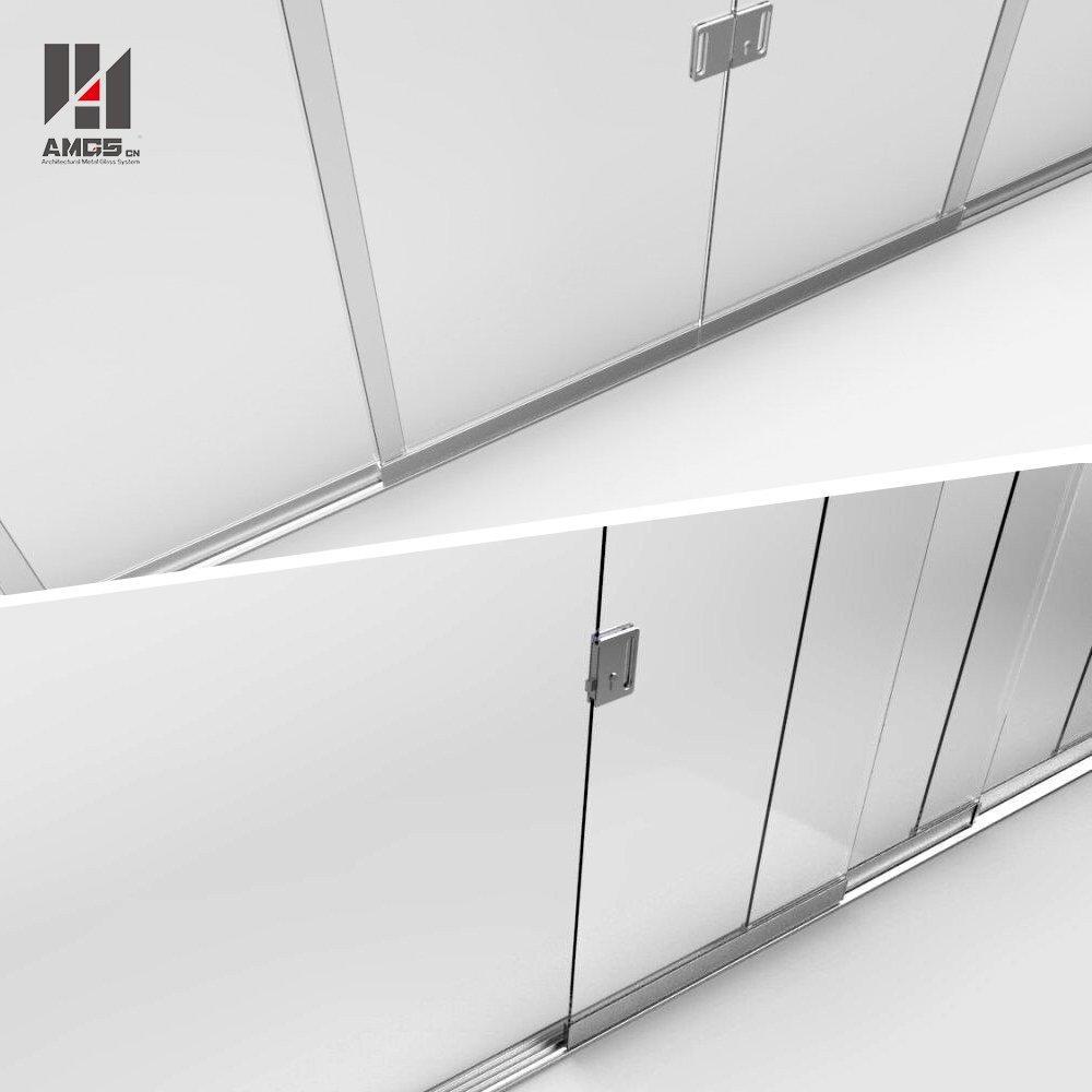 Modern Facade Design Frameless Sliding Glass Doors