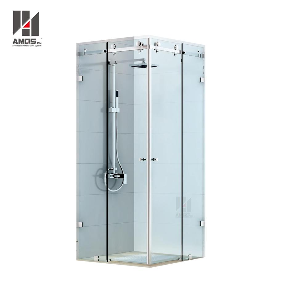 Bathroom Frameless Shower Sliding Doors With 8-12mm Tempered Glass