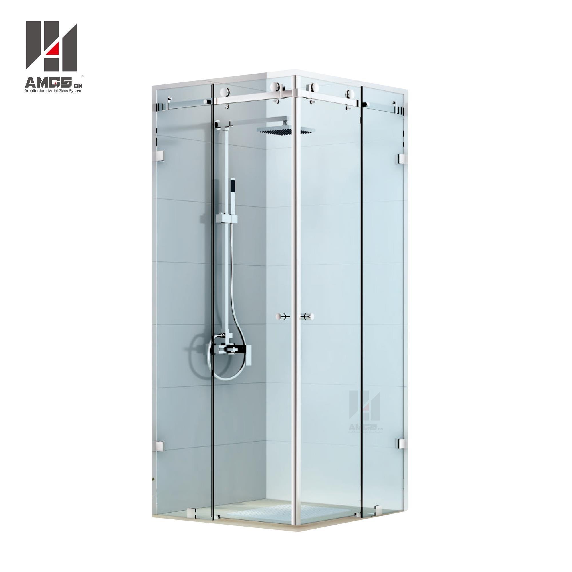 Bathroom Frameless Shower Sliding Doors With 8 12mm Tempered
