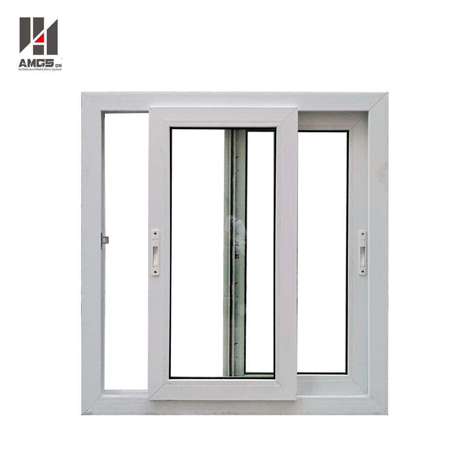 PVC Sliding Window With Double Tempered Glass