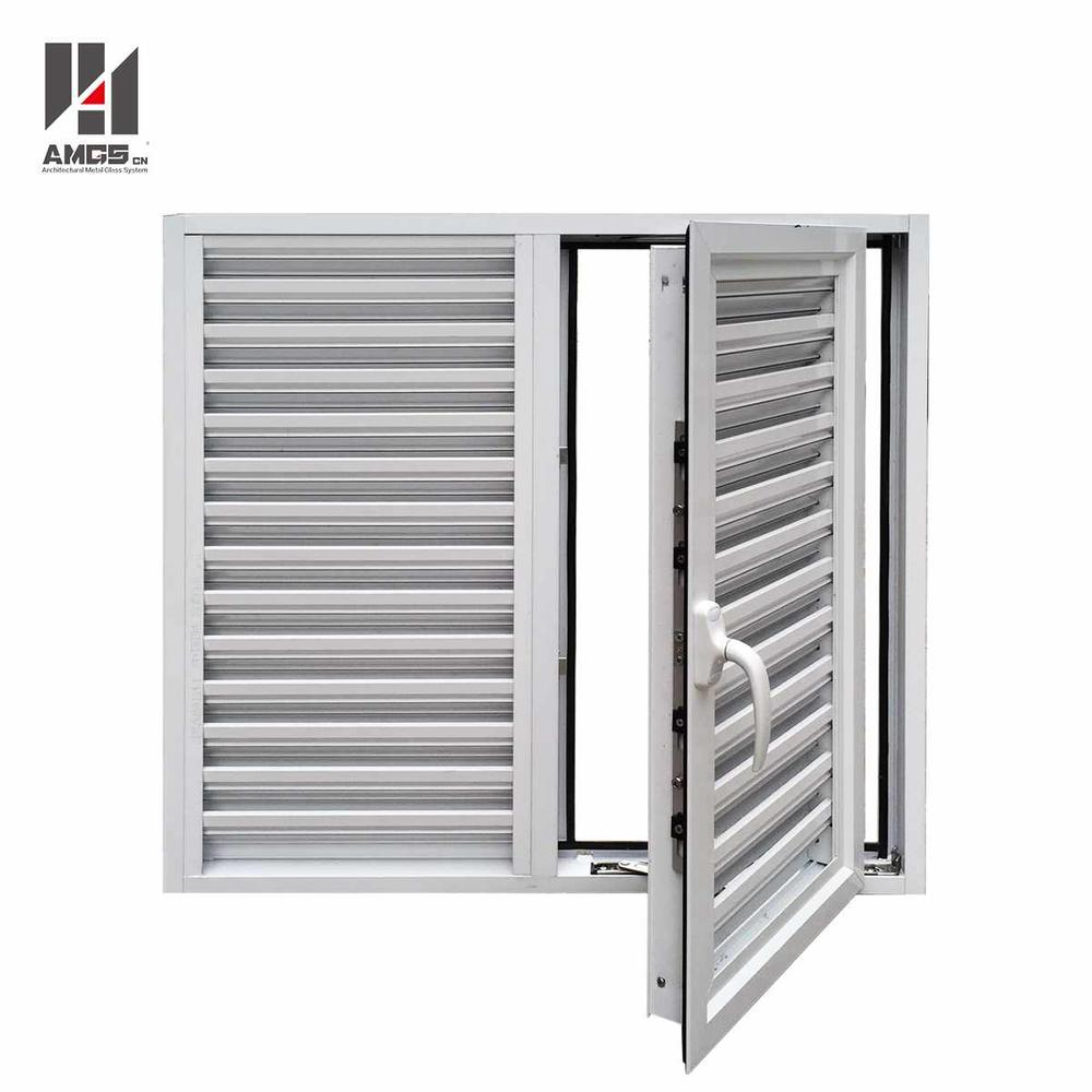 Exterior Powder Coating Casement Aluminum Shutters Window