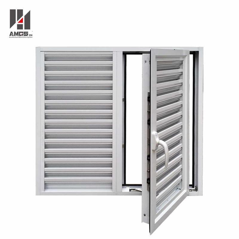 Exterior Powder Coating Casement Aluminum Shutters Window