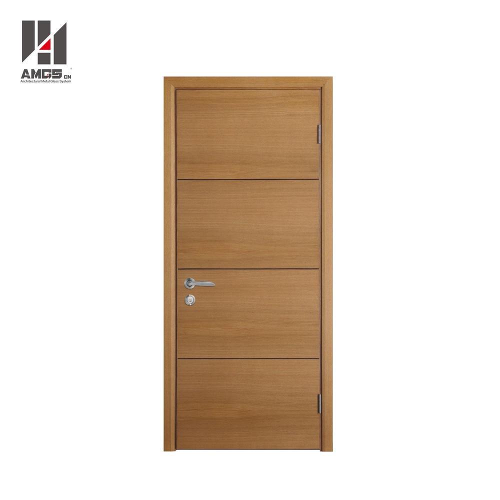 Modern Latest Designs Interior Mdf Simple Teak Wood Door