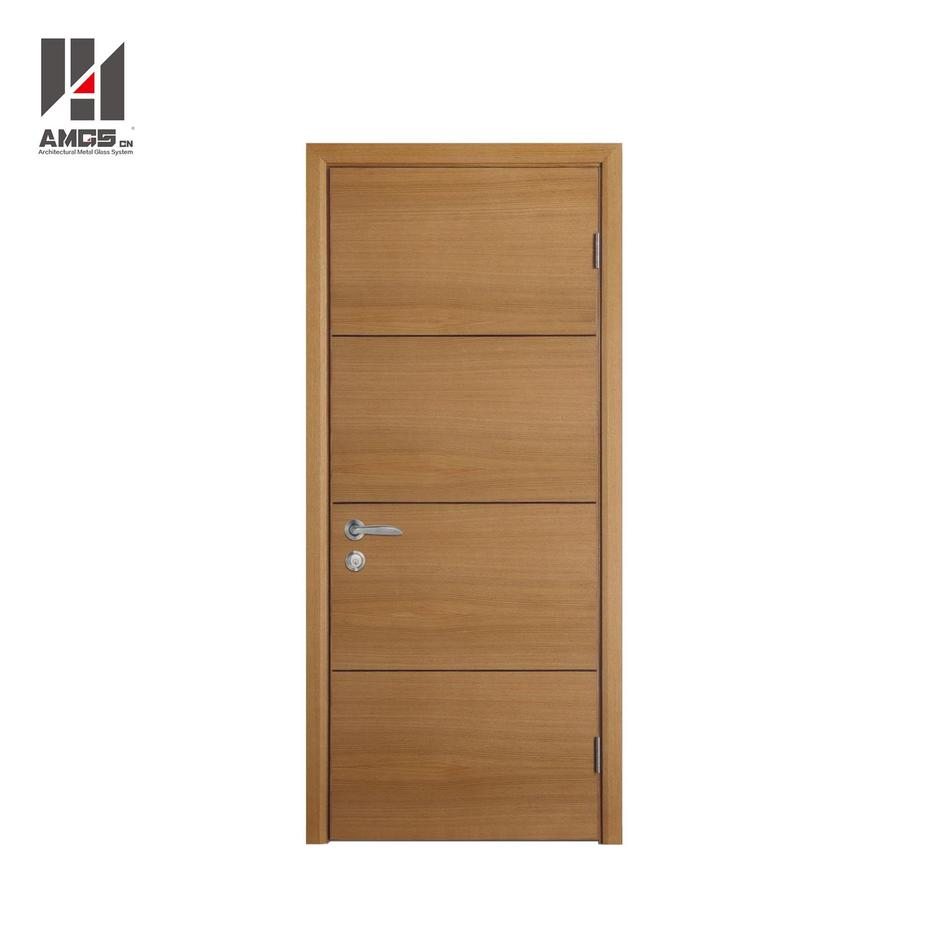 Modern Latest Designs Interior Mdf Simple Teak Wood Door