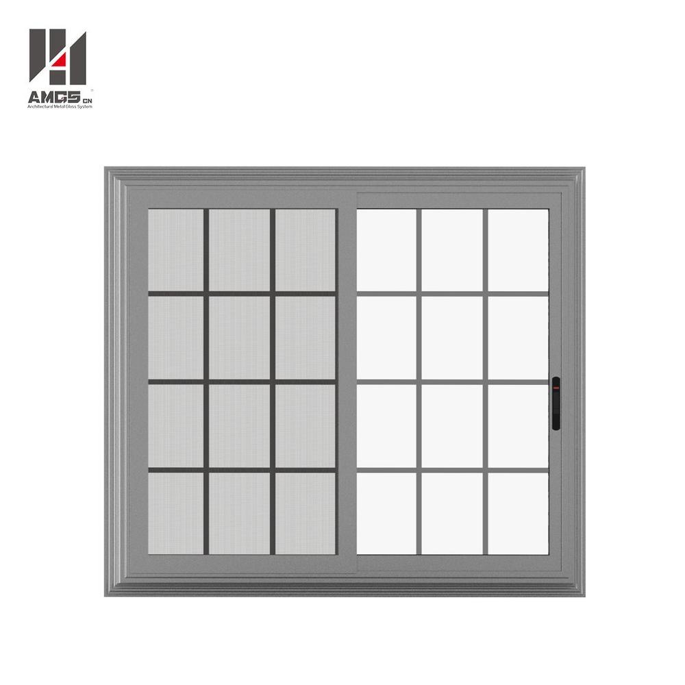 Aluminium Alloy Sliding Modern Window Grill Design With Powder Coating