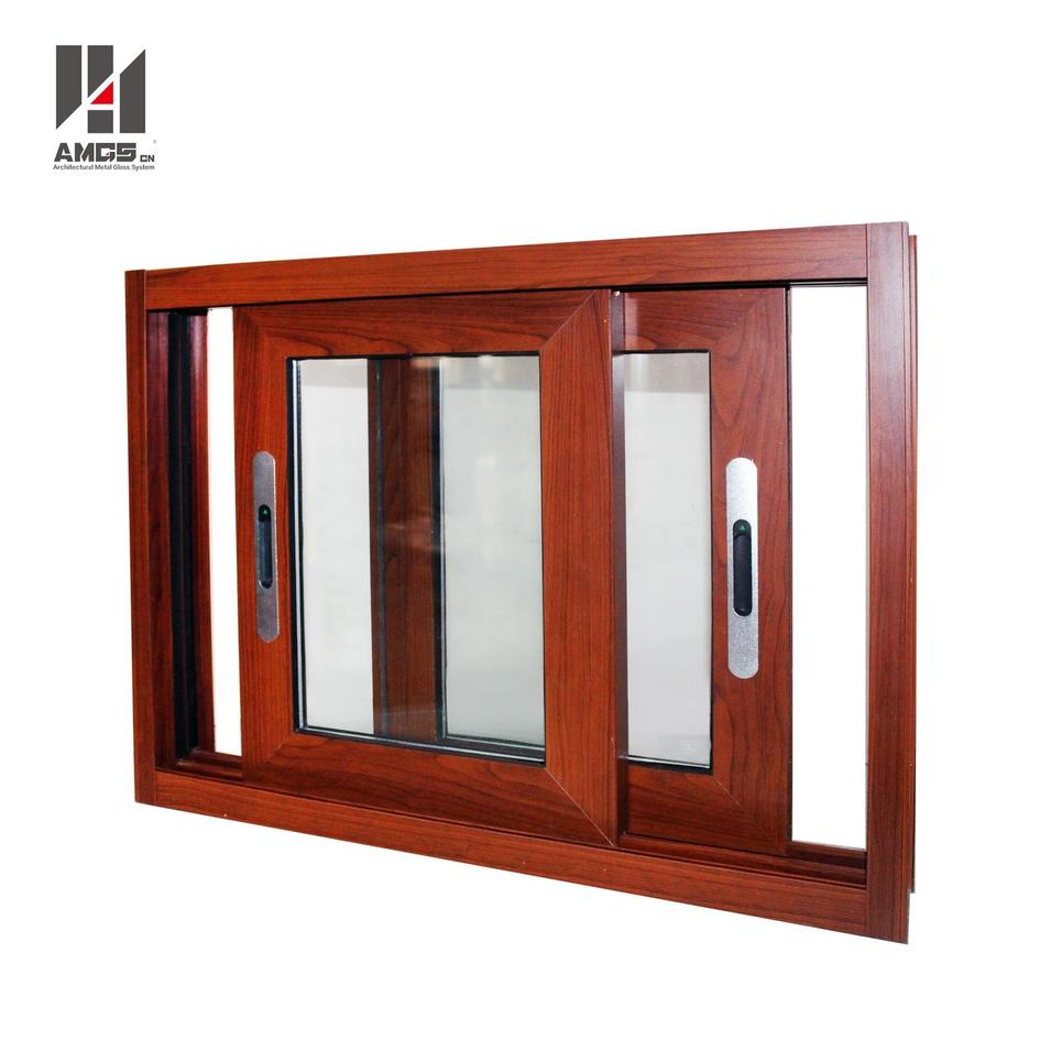 Customized Glass Window Aluminum Sliding Window With Double Glazing