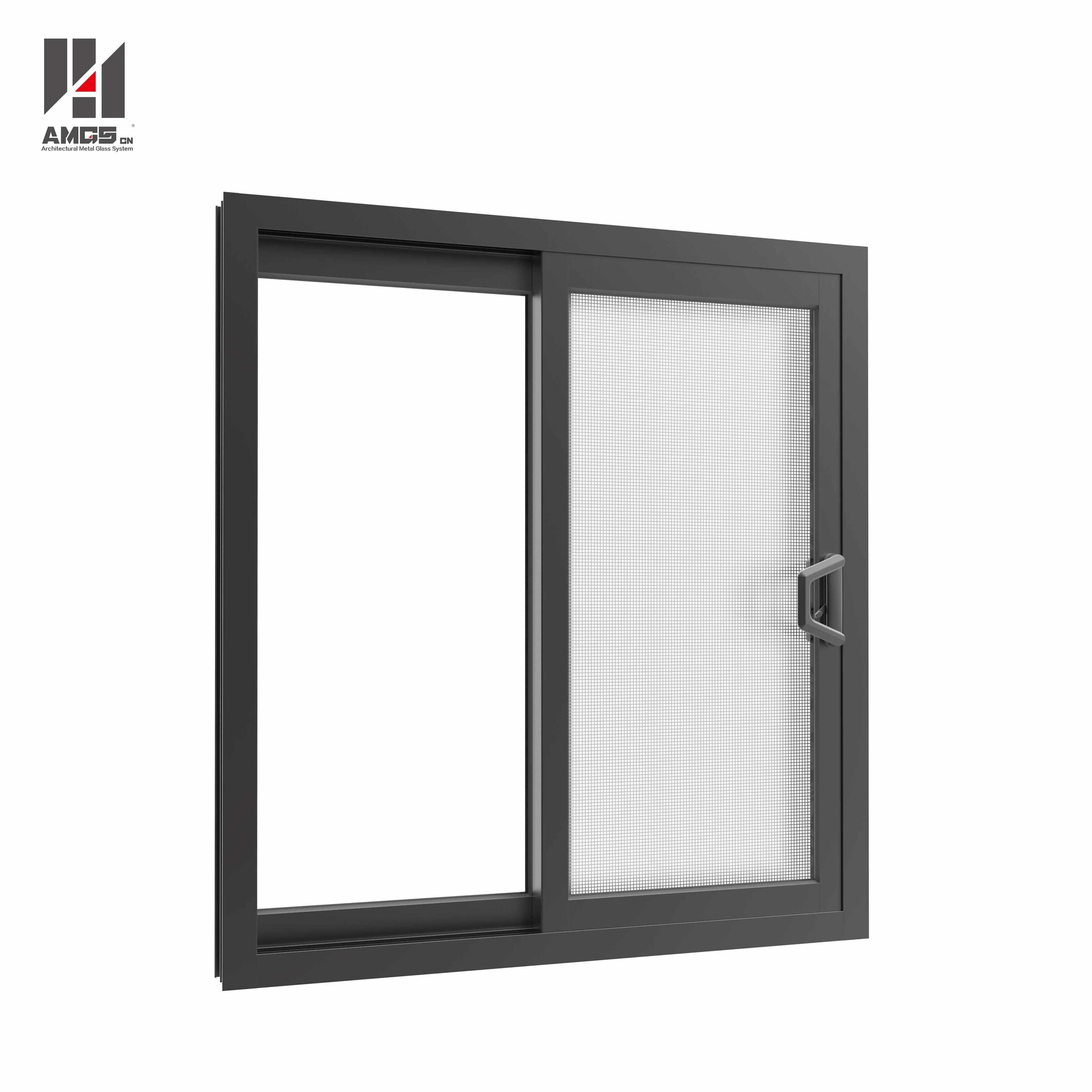 AMGS Australia Style Aluminium Sliding Window With Double Glazing Aluminum Sliding Windows image9