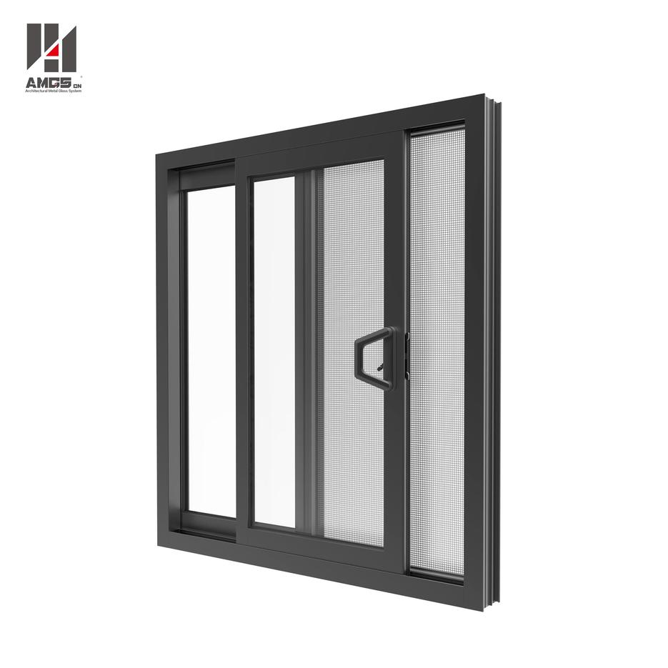 Australia Style Aluminium Sliding Window With Double Glazing