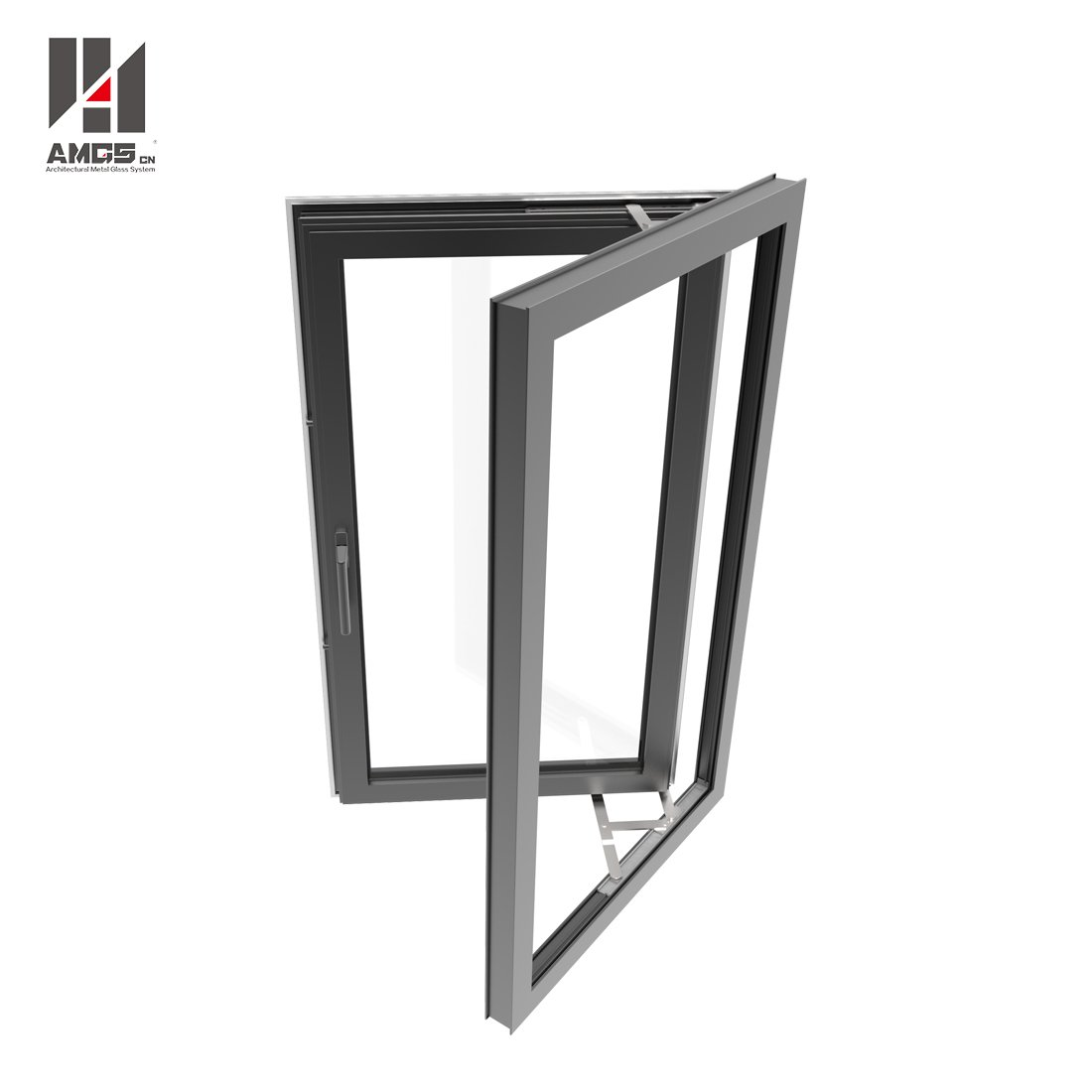 AMGS Aluminium Casement Windows With Tempered Glass Aluminum Casement Windows image8