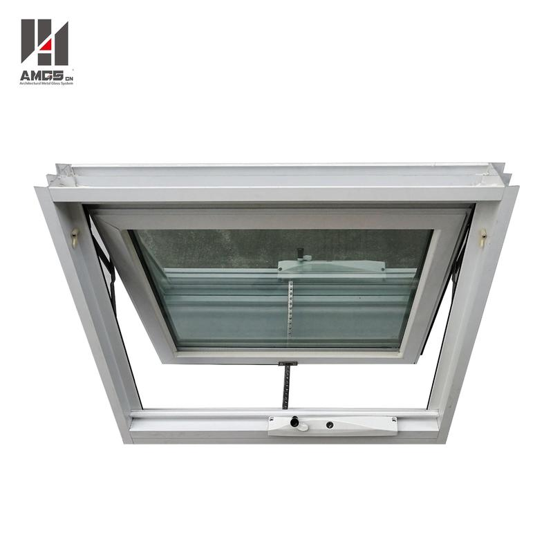 Customized Double Glazing Aluminum Awning Window With Crimsafe Screen