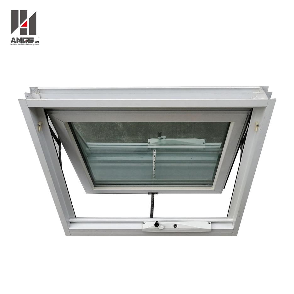 Customized Double Glazing Aluminum Awning Window With Crimsafe Screen