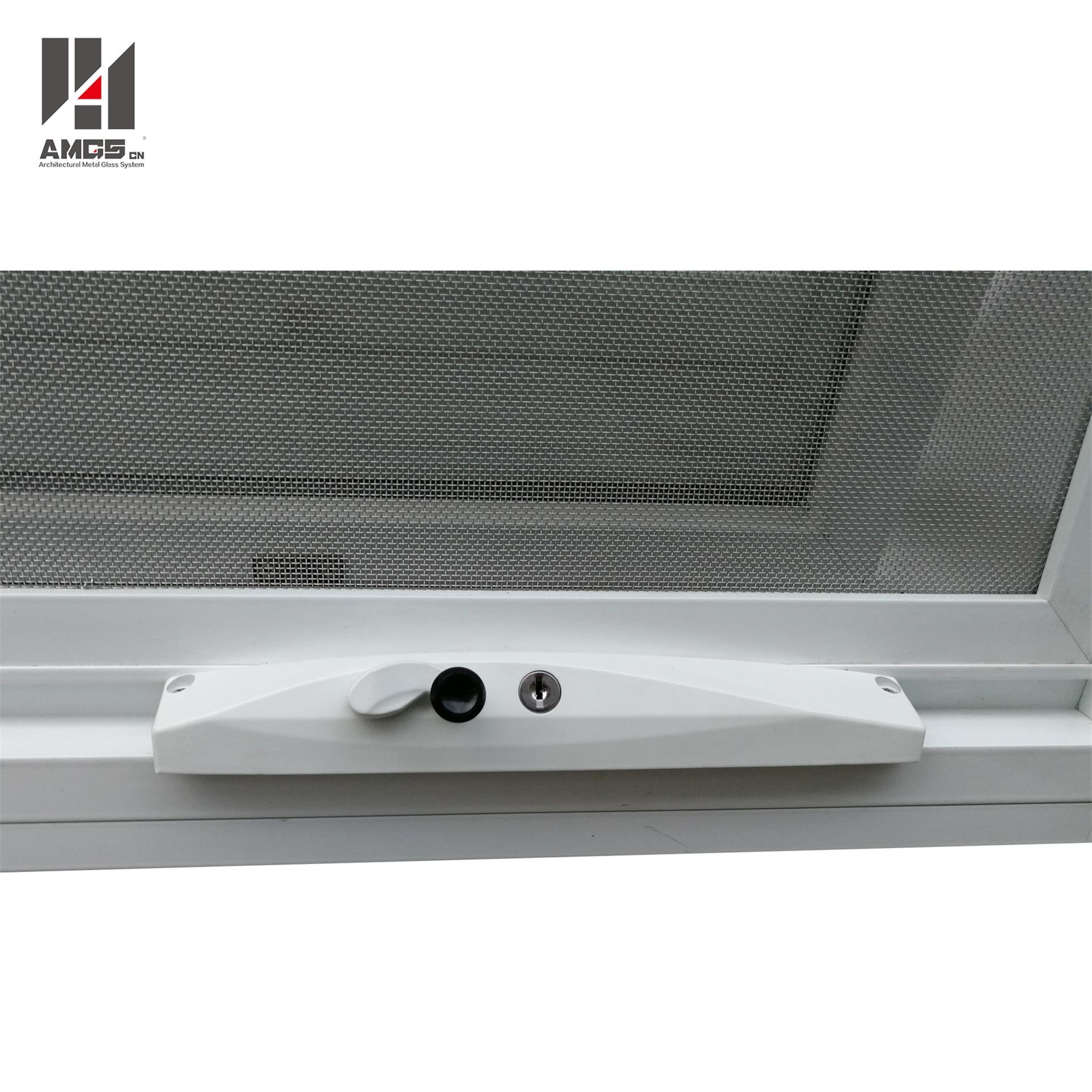 AMGS Customized Double Glazing Aluminum Awning Window With Crimsafe Screen Aluminum Awning Windows image4
