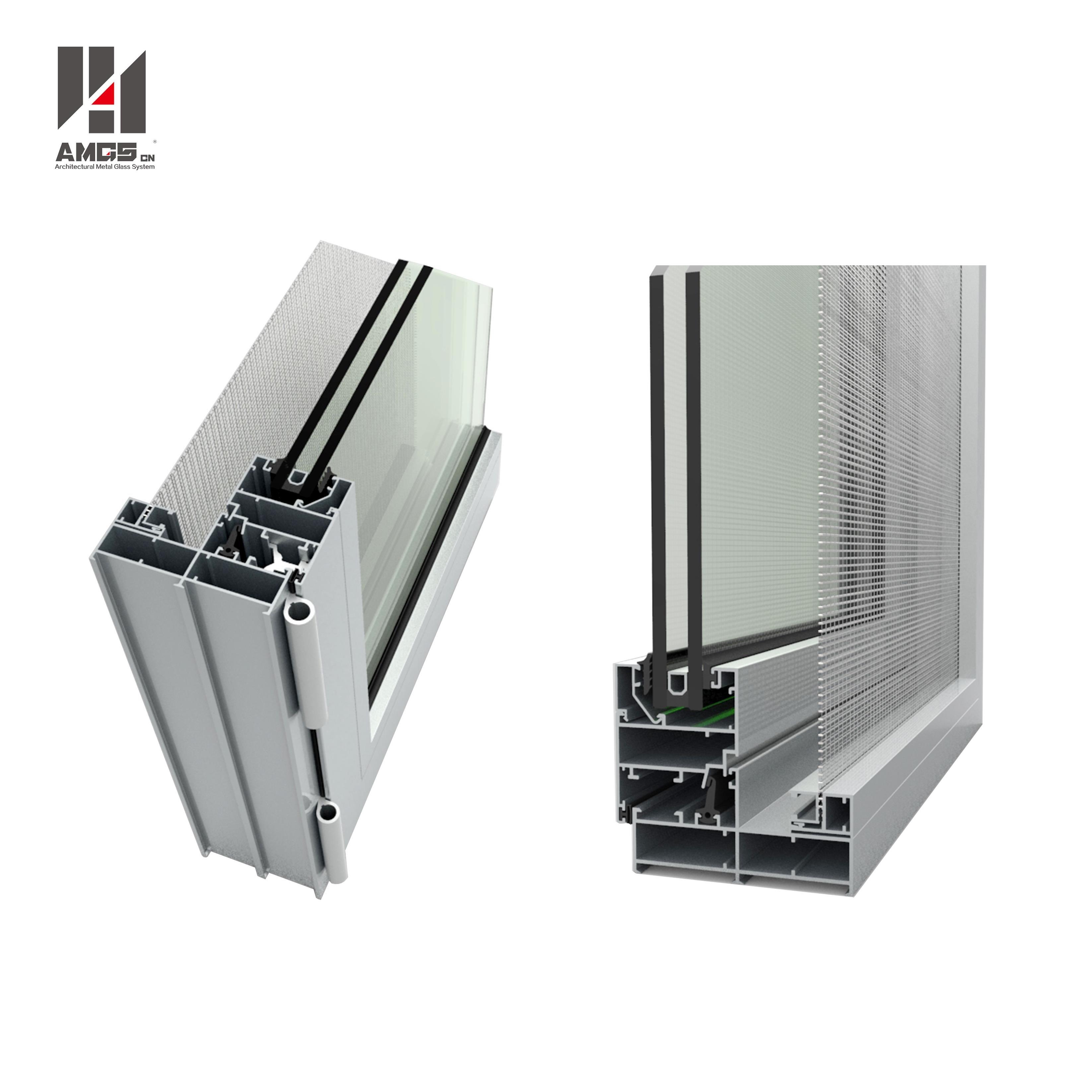AMGS French Style Swing Aluminum Tilt&Turn Window With Double Glazing Glass Aluminum Tilt-turn Windows image1