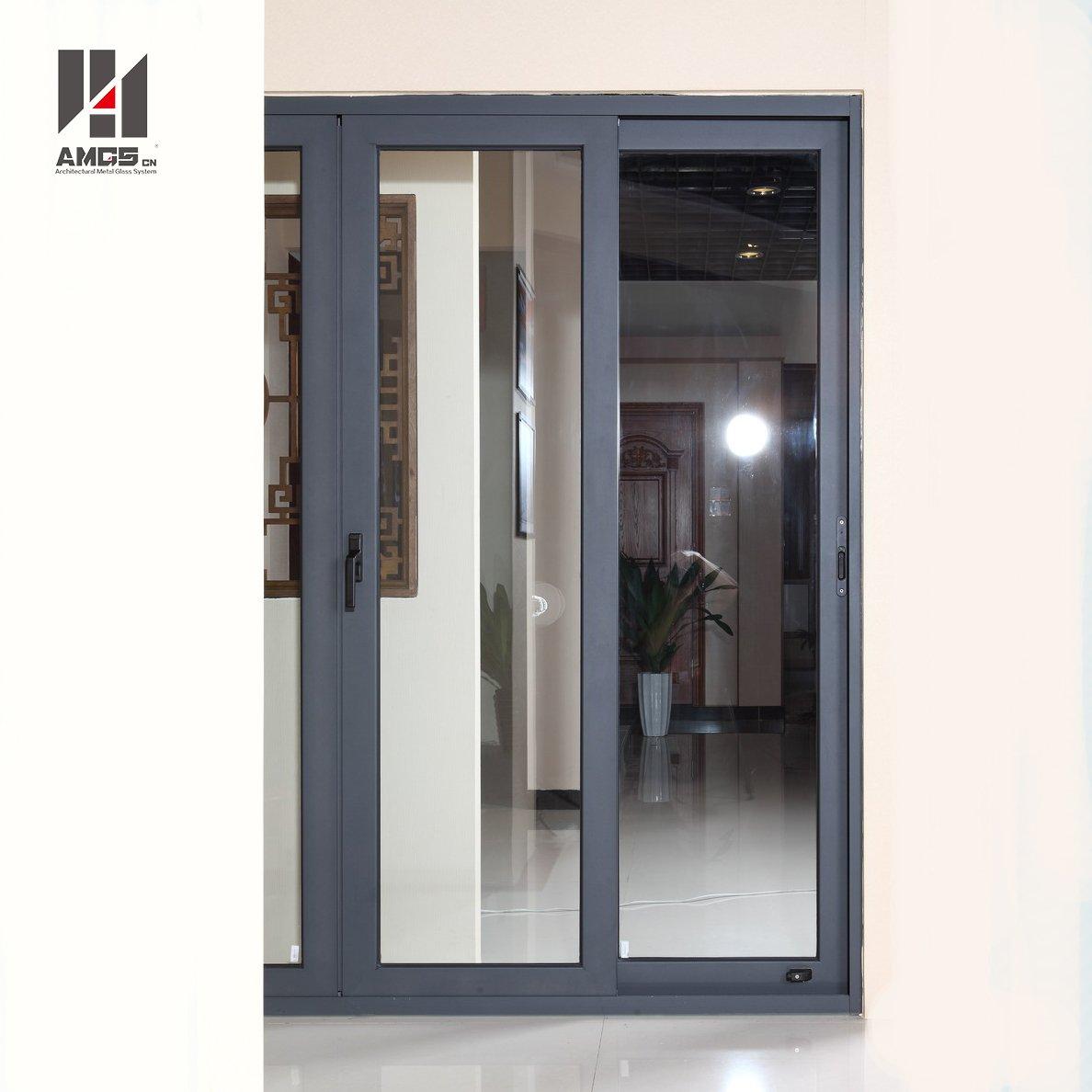 AMGS Exterior Balcony Aluminium Profiles Large Sliding Glass Doors Aluminum Sliding Doors image8
