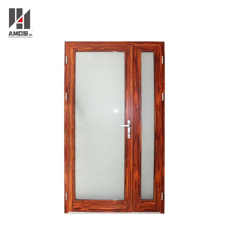 Entry Aluminium swing Door With Double Glass