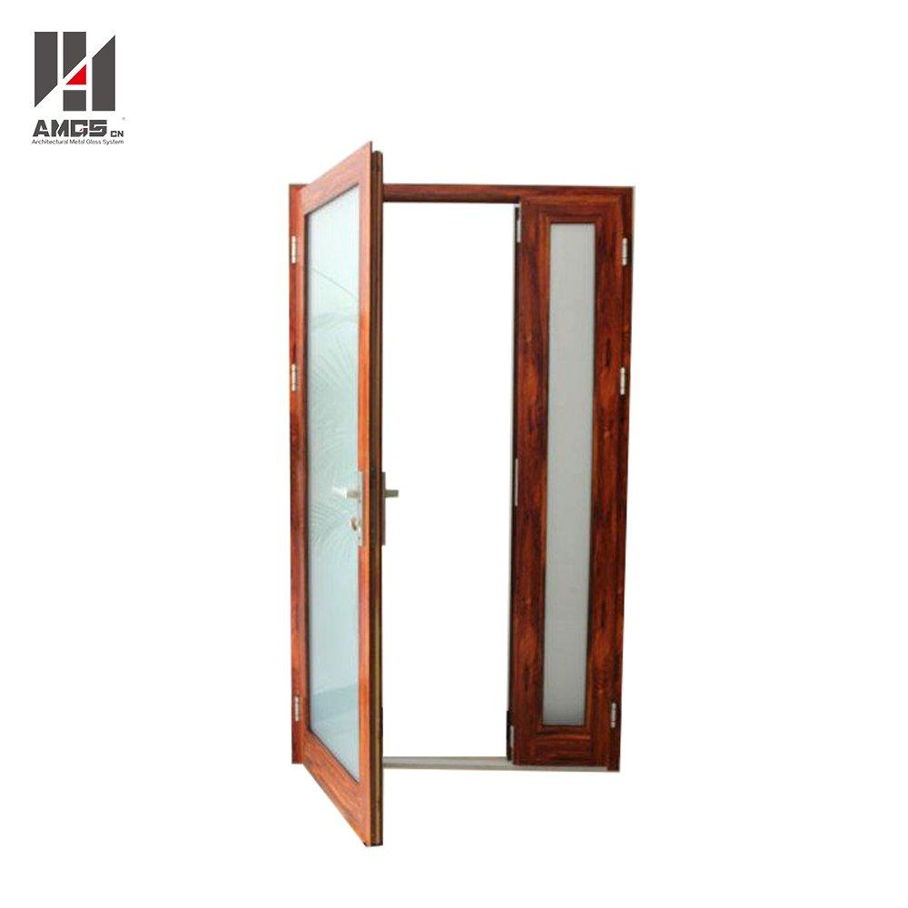 Entry Aluminium swing Door With Double Glass